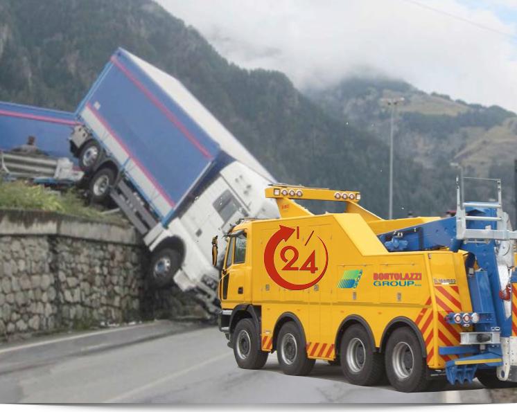 Soccorso stradale con carroattrezzi per traino camion e veicoli pesanti Verona Vicenza Brescia Mantova Trento
