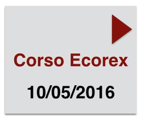 Corso Ecorex